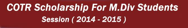 M.Div Scholarship