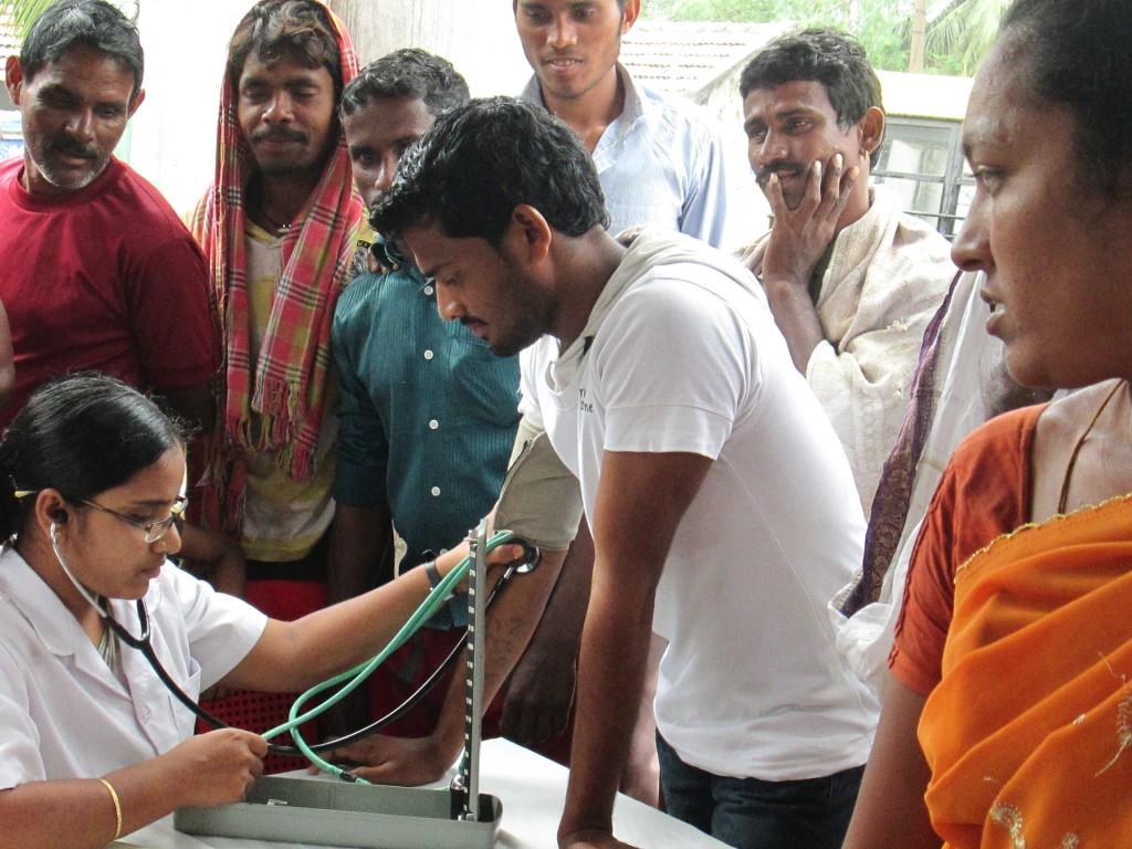 Jyothi Hospital Medical Camp inside COTR Bible College Campus in India