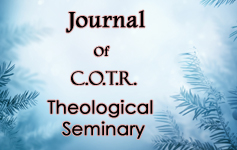 Journal Of C.O.T.R. Theological  Seminary
